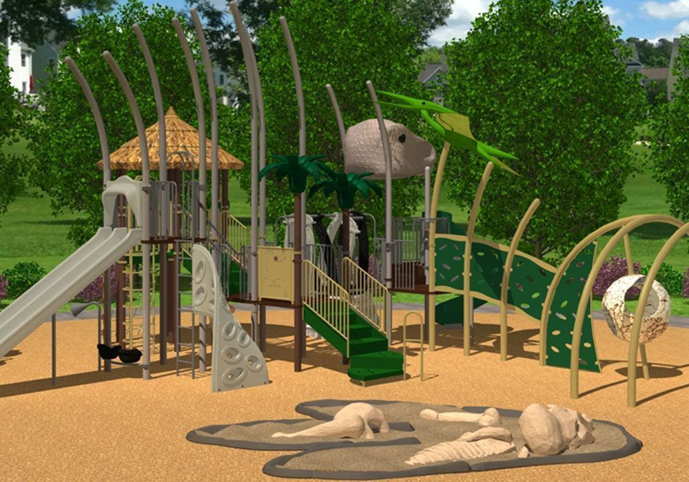 Dinosaur Themed Playground