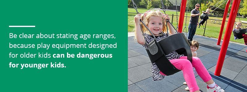 Make Sure Playground Equipment Is Age-Appropriate