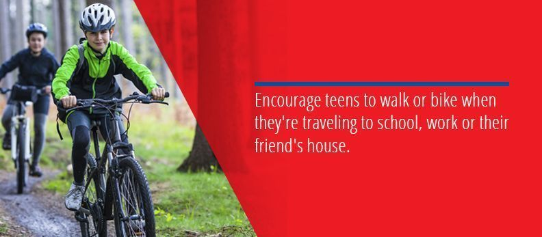 Encourage Teens To Walk Or Bike
