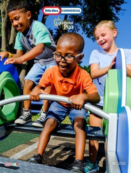 Kids on Little Tikes Commercial Unlimited Playground component