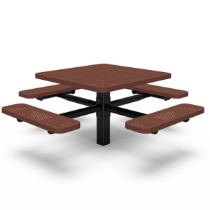 "40"" Square Table with Four Seats - Perforated - In-ground (LTPQ215Q)"