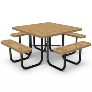 "46"" Square Table - Perforated - Portable (LTPQ140Q)"