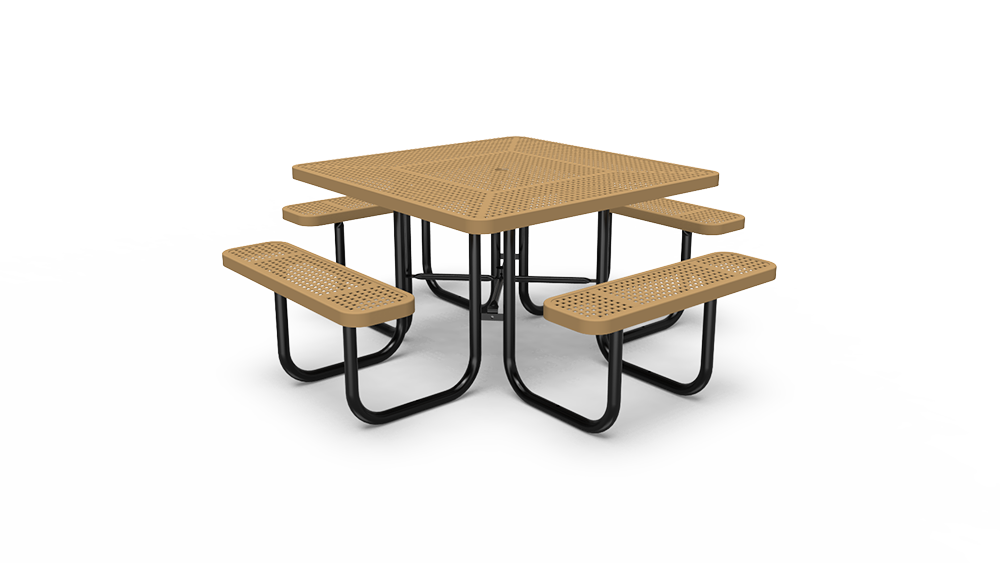 """46"""" Square Table - Perforated - Portable (LTPQ140Q)"""