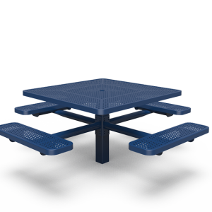 "46"" Square Table with Four Seats - Perforated - In-ground (LTPQ230Q)"