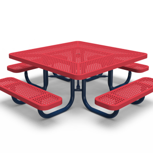 "46"" Square Tot Table - Perforated - Portable (LTPQ171Q)"