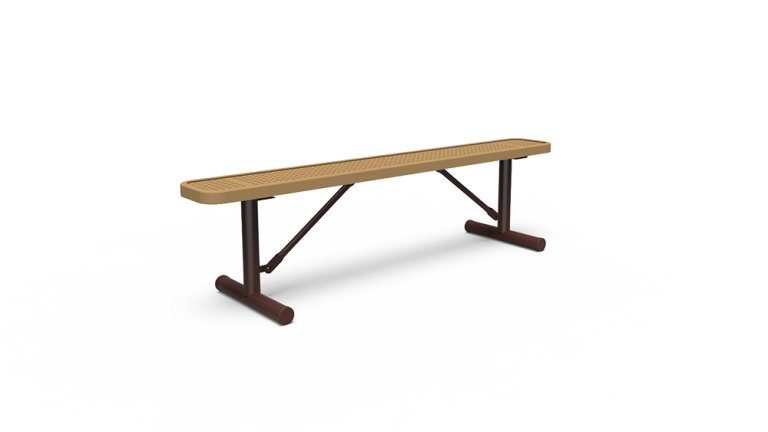6' Backless Bench - Perforated - Portable (LTPQ301Q)