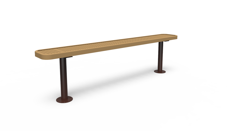 6' Backless Bench - Perforated - Surface Mount (LTPQ307Q)