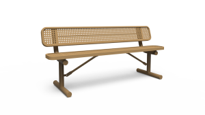 6' Bench with Back - Perforated - Portable (LTPQ300Q)