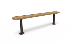 6' Bench with Back - Perforated - Surface Mount (LTPQ306Q)