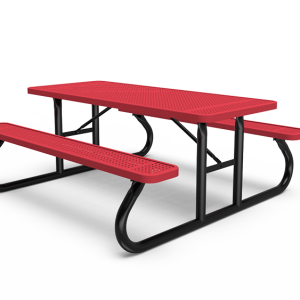 6' Rectangle Table - Perforated - Portable (LTPQ106Q)