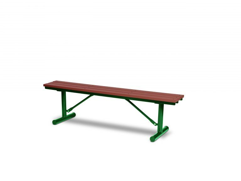 6' Recycled Plastic Plank Bench without Back - Portable (LTGV302G)