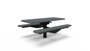 6' Single Pedestal Table - Perforated - In-ground (LTPQ201Q)