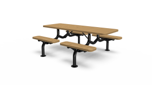 7' Individual Seat Table - Perforated - Portable/Surface Mount (LTPQ135Q)
