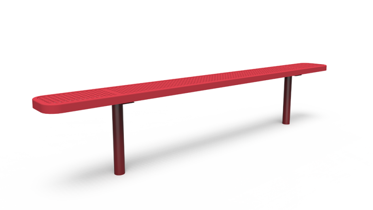 8' Backless Bench - Perforated - In-ground (LTPQ316Q)