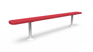 8' Backless Bench - Perforated - Surface Mount (LTPQ319Q)