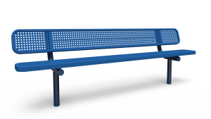 8' Bench with Back - Perforated - In-ground (LTPQ315Q)
