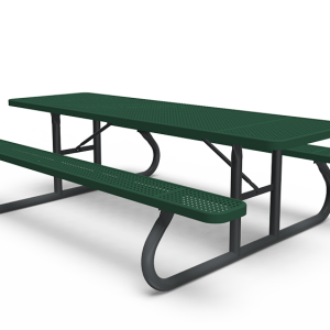 8' Rectangle Table - Perforated - Portable (LTPQ111Q)