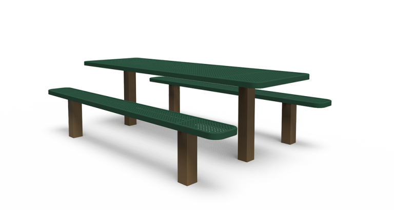 8' Separate Bench Table - Perforated - In-ground (LTPQ206Q)