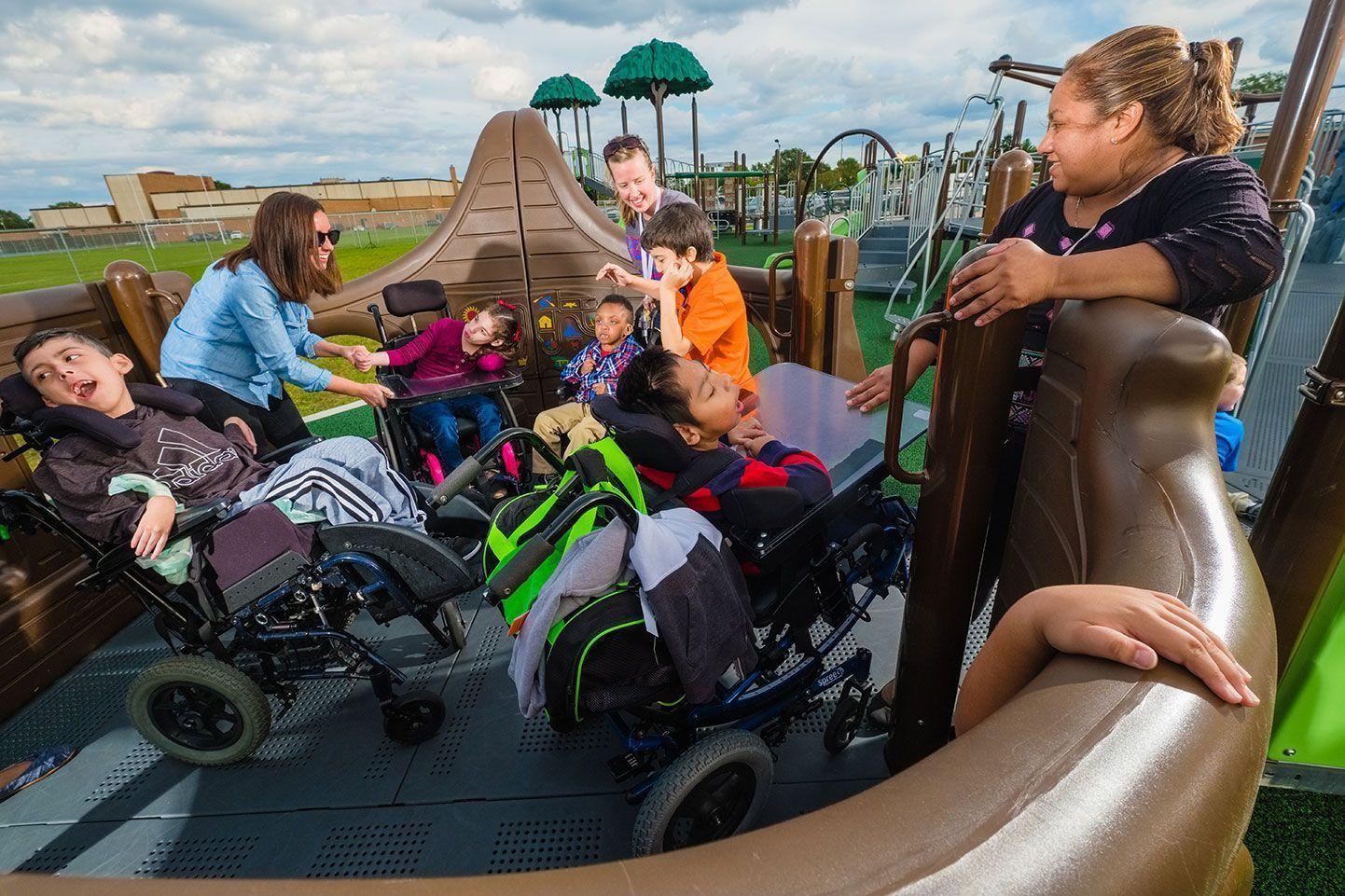 Inclusive nature based playground equipment