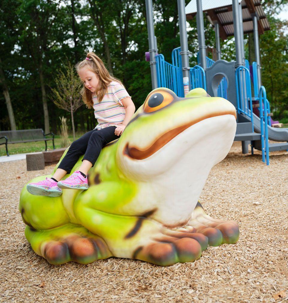 frog playground equipment