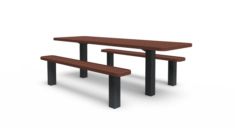 ADA 8' Separate Bench Table - Perforated - In-ground (LTPQ207Q)