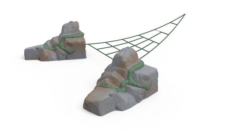 Ancient Wonders Aztec Net with 2 Anchor Stones (200203527)