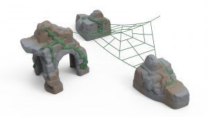 Ancient Wonders Canopy Net with 2 Anchor Stones & Arch (200203525)