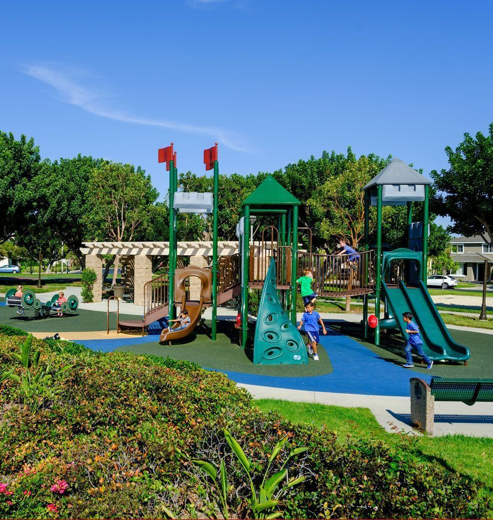 golf course themed playground