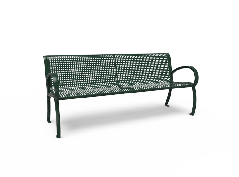 Modern 6' Bench - Perforated - Portable/Surface Mount (LTPQW42Q)