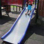 Purple commercial roller slide