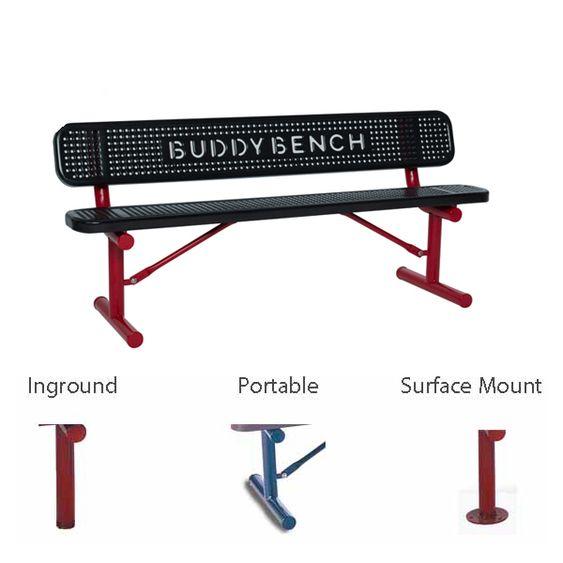 6' Buddy Bench with Back (LTSG306PBB)