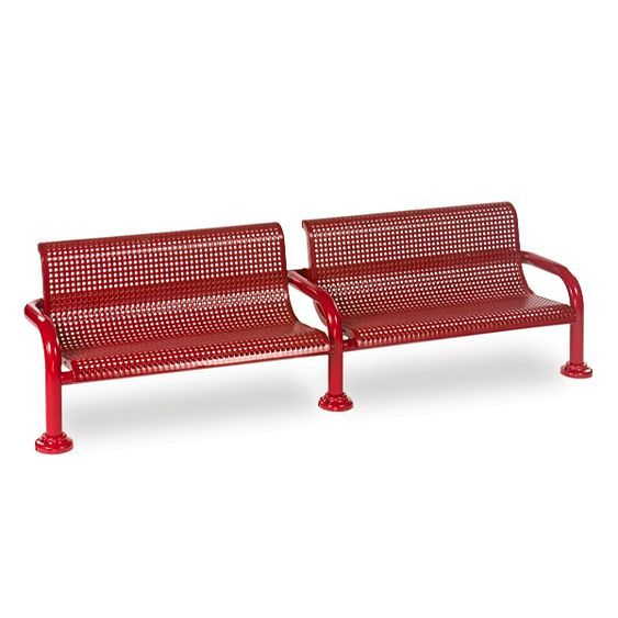 8' Contemporary Bench with Back - Perforated (LTCN439P)