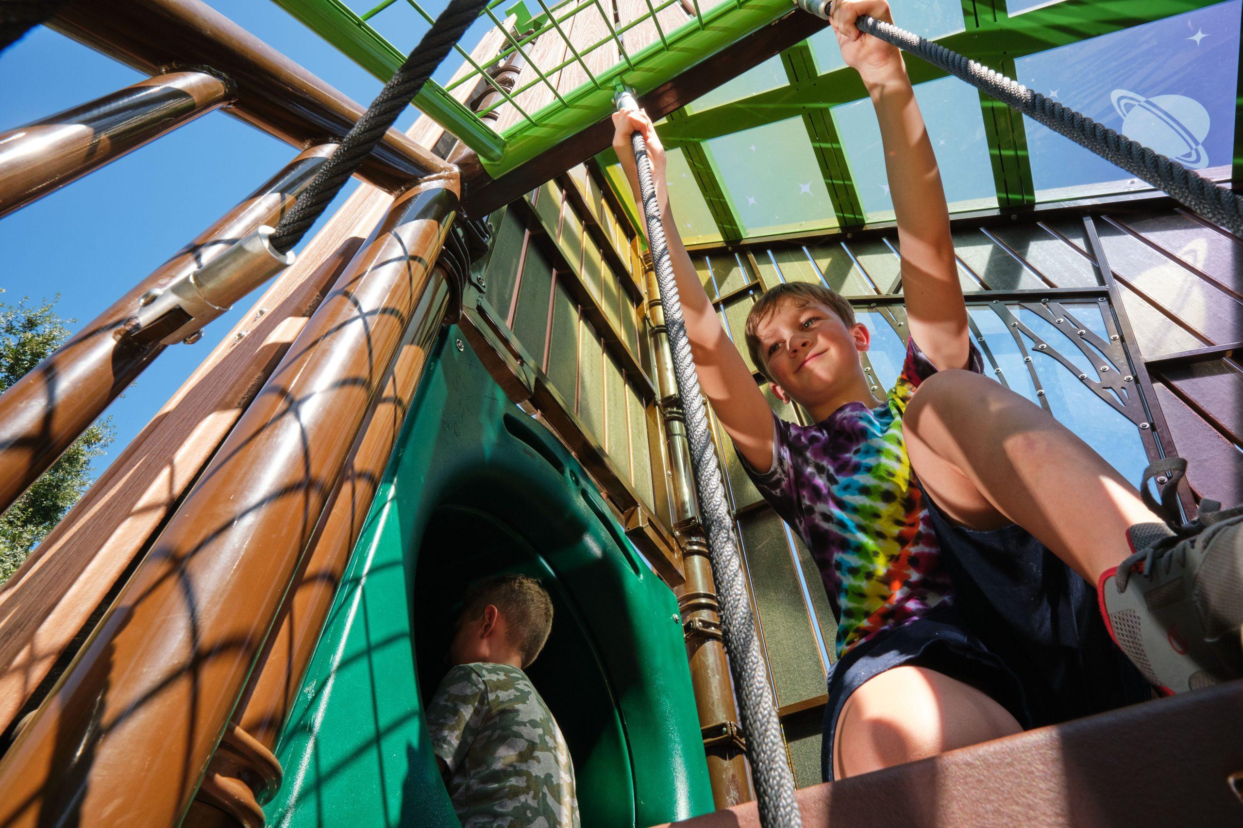 Nature themed playground equipment