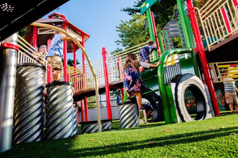 Adventureland Park farm themed playground equipment