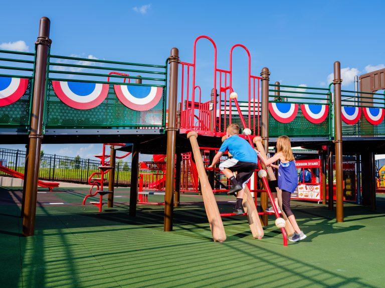 baseball themed playground