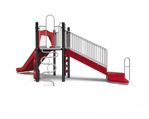 Double Slide playground sideview B20-72380 (KB2072380)