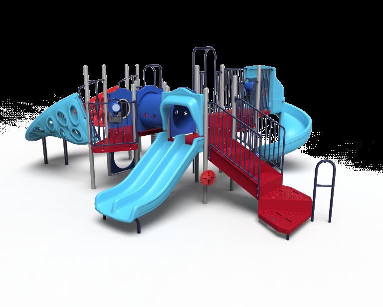 red and blue playground B20-72363 (PB2072363)