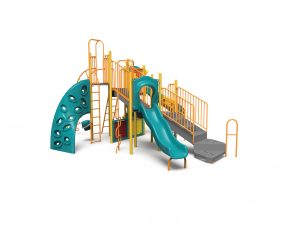 green and yellow playground side view PB20-72364 (PB2072364)