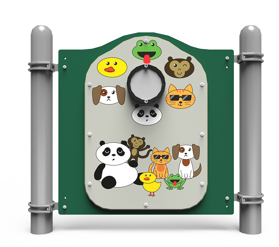 Silly faces playground panel