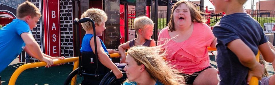 special needs children at park