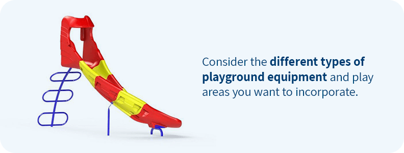 Create a playground with a variety of equipment