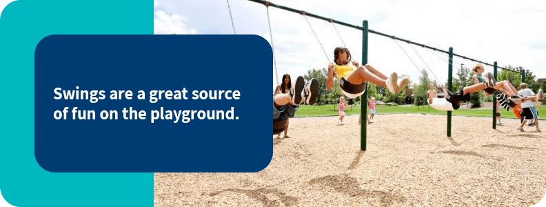 Add swings to your playground
