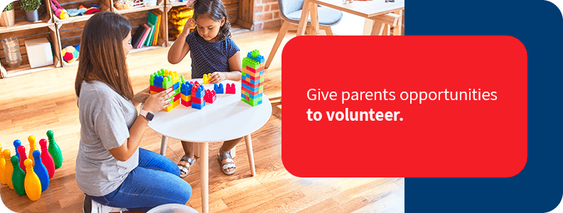 Encourage volunteering at your daycare